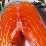 Рыба (лосось) слабосоленая, домашнего приготовления