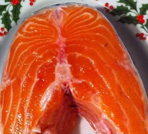 Рыба ( лосось) слабосоленая, домашнего приготовления