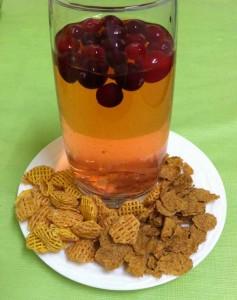 Напиток из шиповника с зерновыми хлопьями