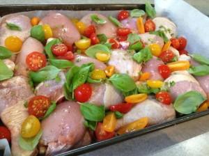 Курица с томатами и райхоном