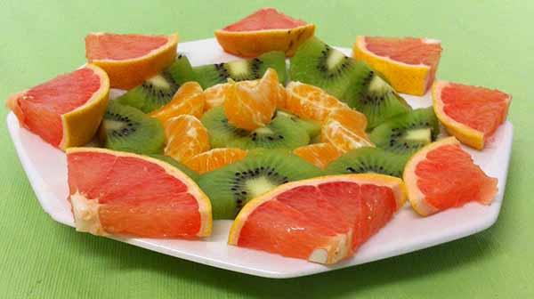 киви, грейпфрут, апельсин