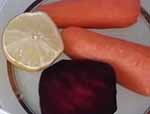 Свекла ,морковь, лимон
