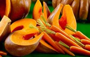 Тыква, морковь