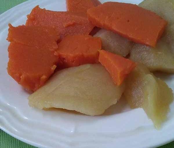 Закуска из тыквы и яблок.
