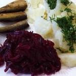 картофель и шпроты