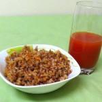 Постная гречневая каша  с морковью и луком.