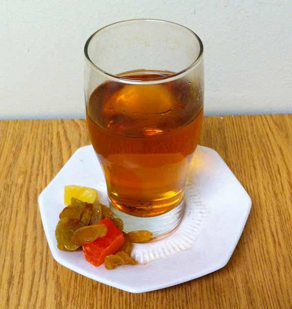 Черный чай с сухофруктами