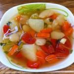 Суп постный с белой фасолью
