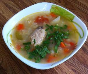 Постный рыбный суп
