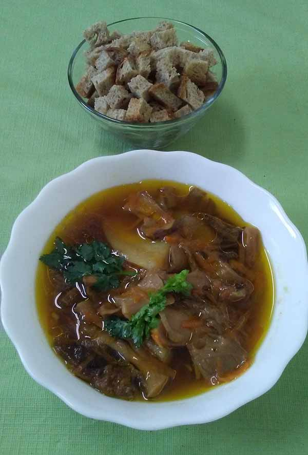Постный грибной суп