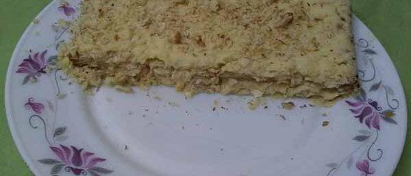 Наполеон из мацы (хлебцов)с постным кремом.