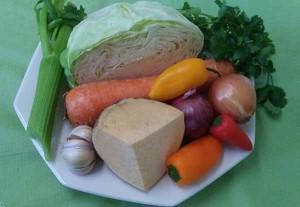 капуста, репа, болгарский перец, лук, сельдерей