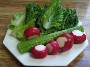 Салат из редиса с сельдерееем