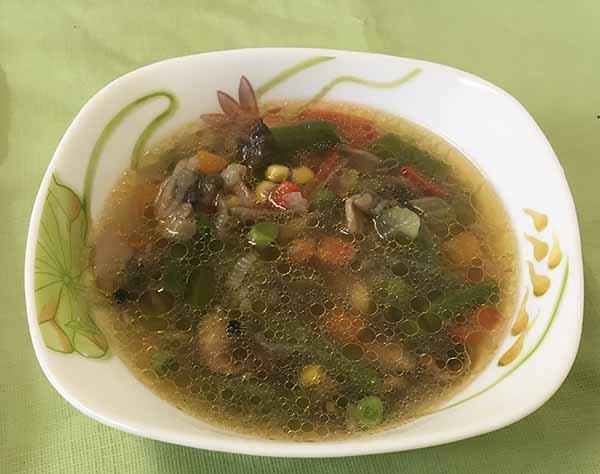 Суп постный из грибов с овощами