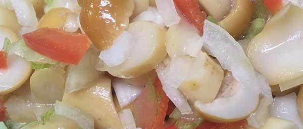 Грибы, болгарский перец, сельдерей и лук