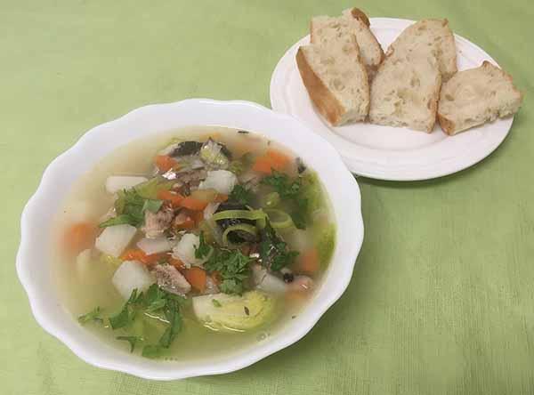 Суп рыбный-солянка