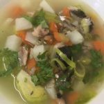 Постный рыбный суп - солянка.
