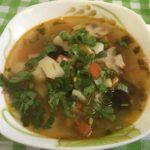 Постный грибной суп-солянка