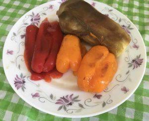 Баклажан, перец -гриль