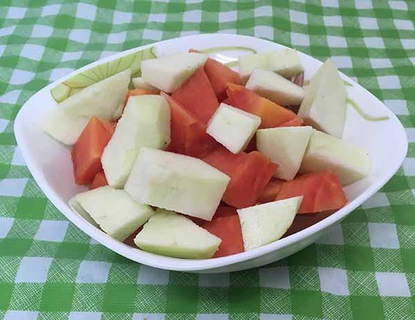 Яблоки, папайя