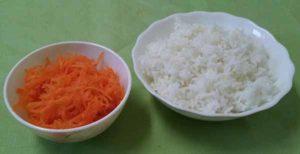Рис, тыква