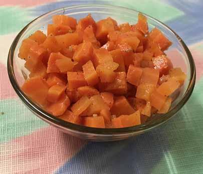Морковь на пару с оливковым маслом