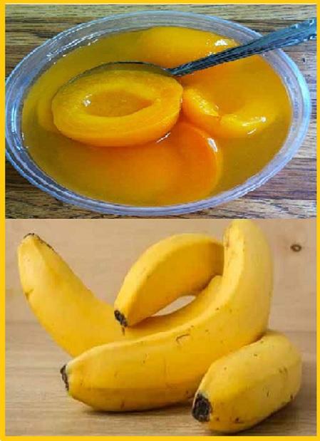 Персики, банан