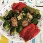 Овощи, запечённые в аэрогриле.